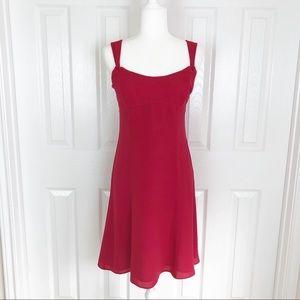 LOFT NWT 100% silk flowy A-line dress